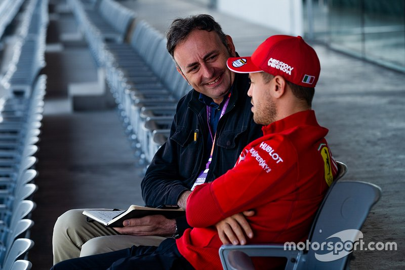 Roberto Chinchero intervista Sebastian Vettel, Ferrari SF90