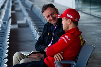 Roberto Chinchero in an interview with Sebastian Vettel, Ferrari
