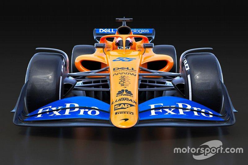 La F1 2021 version McLaren