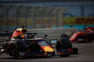Max Verstappen, Red Bull Racing RB15, leads Sebastian Vettel, Ferrari SF90