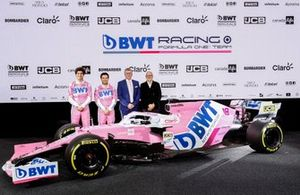 Otmar Szafnauer, Lance Stroll, Racing Point, Sergio Perez, Racing Point, Andreas Weissenbacher, Racing Point RP20