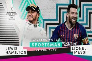 Lewis Hamilton y Lionel Messi, Deportistas del año Laureus World Sports Award