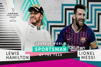 Lewis Hamilton and Lionel Messi, Sportsman of the year Laureus World Sports Award