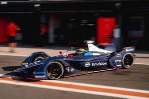 Robin Frijns, Envision Virgin Racing, Audi e-tron FE06, esce dal garage