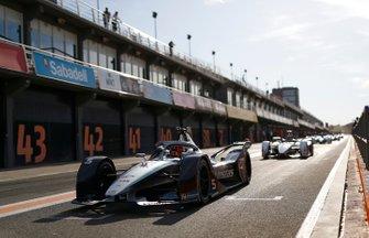 Stoffel Vandoorne, Mercedes Benz EQ Formula, EQ Silver Arrow 01 sort des stands