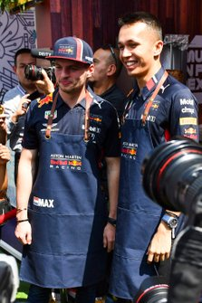 Max Verstappen, Red Bull Racing, en Alex Albon, Red Bull Racing