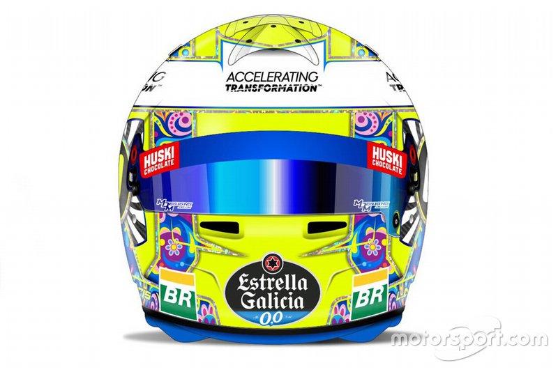 El casco de Lando Norris, McLaren, para el GP de México