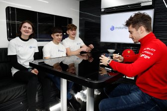 Charles Leclerc, Ferrari signs autographs for members of the Motorsport UK Academy