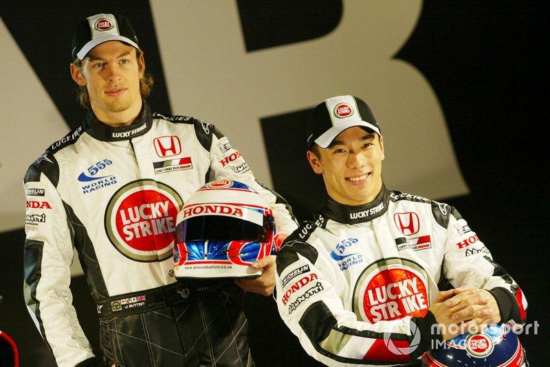 Jenson Button et Takuma Sato chez BAR