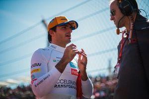 Carlos Sainz Jr., McLaren, on the grid