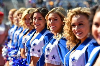 The Dallas Cowboys Cheerleaders entertain the crowds