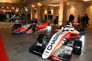 W Series, Formula E and F1 cars on display outside the venue