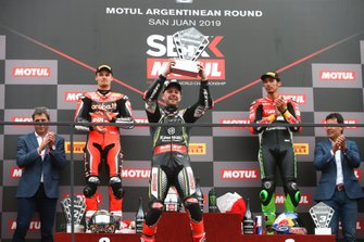Chaz Davies, Aruba.it Racing-Ducati Team, Jonathan Rea, Kawasaki Racing Team, Toprak Razgatlioglu, Turkish Puccetti Racing