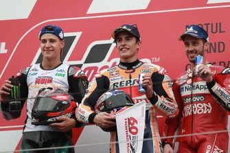 Podium: race winner Marc Marquez, Repsol Honda Team, second place Fabio Quartararo, Petronas Yamaha SRT, third place Andrea Dovizioso, Ducati Team