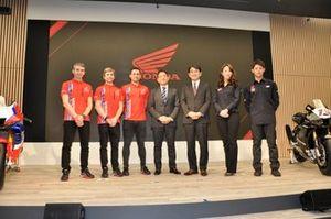 Alvaro Bautista,Leon Haslam,Takumi Takahashi, Team HRC launch