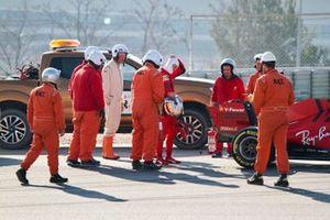 Sebastian Vettel, Ferrari SF1000 s'arrête en piste
