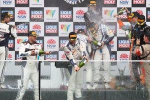 Celebraciones en el podio