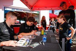 #85 JDC-Miller Motorsports Cadillac DPi, DPi: Matheus Leist, Chris Miller, Tristan Vautier, Juan Piedrahita, autograph session