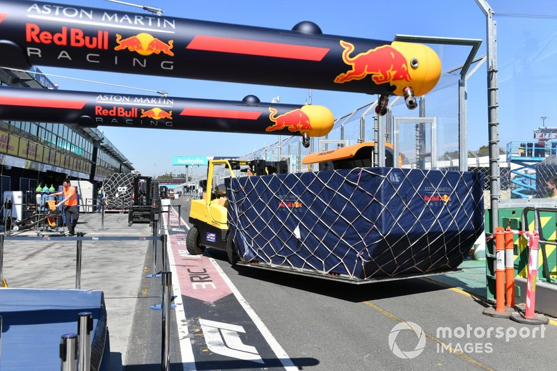 Red Bull Freight arrives