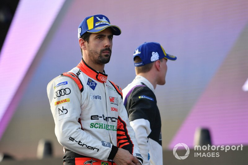 Lucas Di Grassi, Audi Sport ABT Schaeffler on the podium