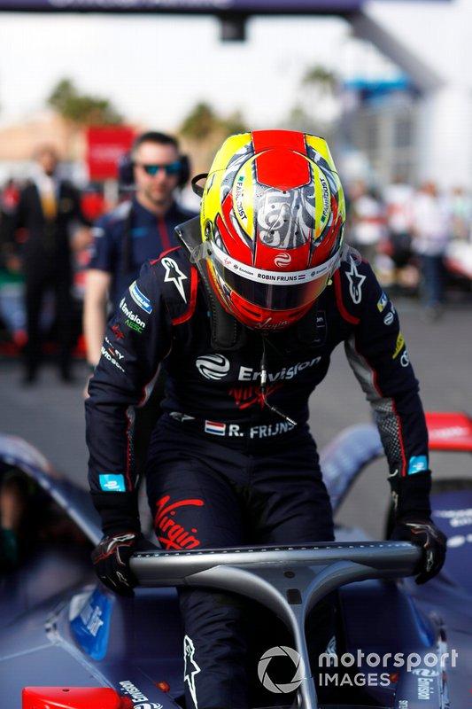 Robin Frijns, Virgin Racing, Audi e-tron FE06, in griglia di partenza