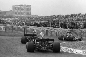 Renn-Action beim GP Niederlande 1973 in Zandvoort