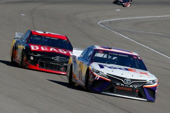 Denny Hamlin, Joe Gibbs Racing, Toyota Camry FedEx Ground and Tyler Reddick, Richard Childress Racing, Chevrolet TAME The BEAST