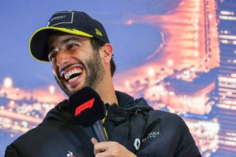 Daniel Ricciardo, Renault F1, in a press conference