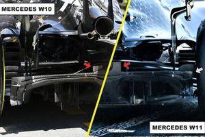 Difusor del Mercedes AMG F1 W11