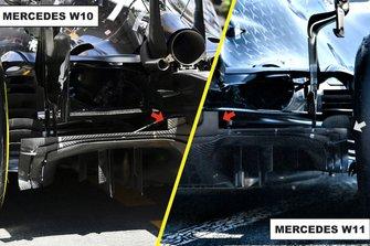 Mercedes AMG F1 W11 diffuser