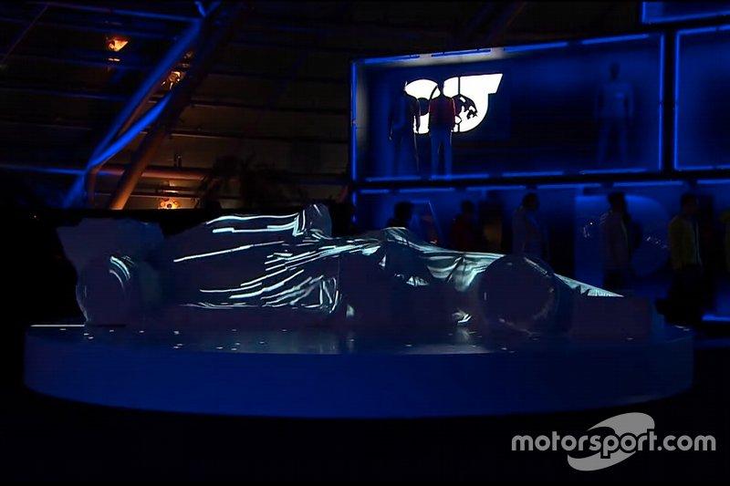 AlphaTauri car under cover