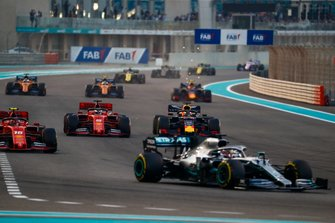 Lewis Hamilton, Mercedes AMG F1 W10, Charles Leclerc, Ferrari SF90, Sebastian Vettel, Ferrari SF90, Max Verstappen, Red Bull Racing RB15