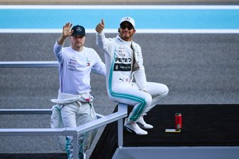 Lewis Hamilton, Mercedes AMG F1, and Valtteri Bottas, Mercedes AMG F1