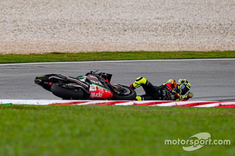 Andrea Iannone, Aprilia Racing Team Gresini, crash