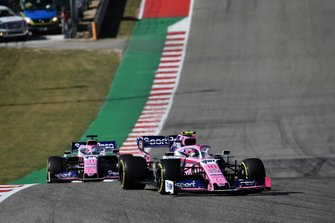 Lance Stroll, Racing Point RP19 et Sergio Perez, Racing Point RP19