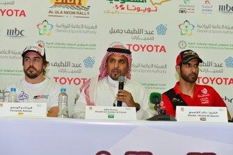 Rueda de prensa del Ula Neom Rally con Fernando Alonso