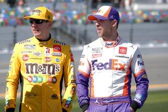 Denny Hamlin, Joe Gibbs Racing, Toyota Camry FedEx Express Kyle Busch, Joe Gibbs Racing, Toyota Camry M&M's