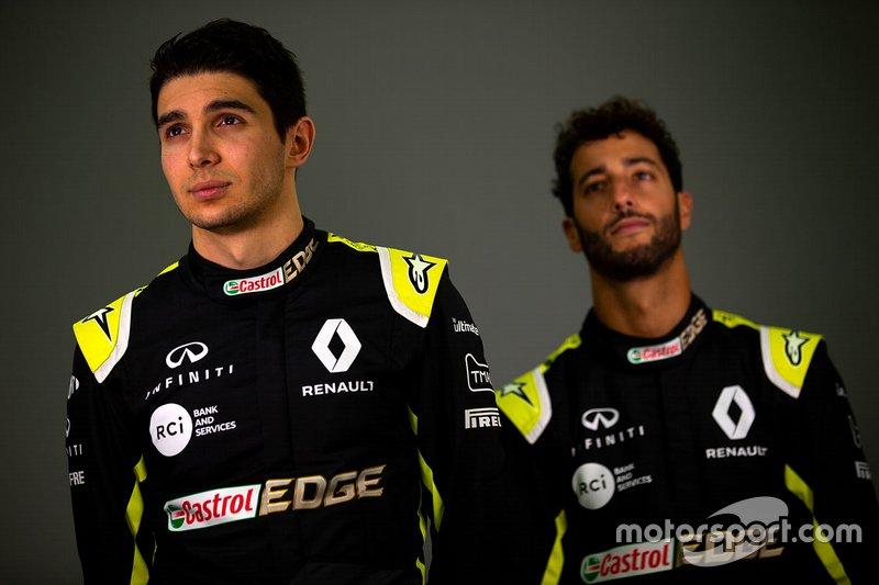 Daniel Ricciardo, Esteban Ocon, Renault F1 Team