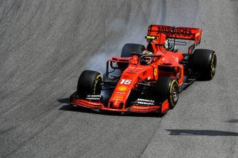 Charles Leclerc, Ferrari SF90 locks up