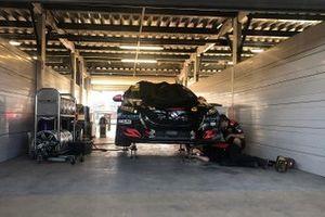 Car of Anton De Pasquale, Erebus Motorsport Holden in the garage