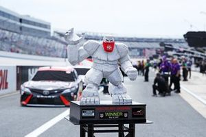 The Monster Mile statue is seen on the grid prior to the race
