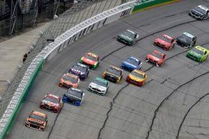 Kurt Busch, Chip Ganassi Racing, Chevrolet Camaro GEARWRENCH and Kyle Busch, Joe Gibbs Racing, Toyota Camry Skittles Gummies