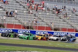 Jeb Burton, Kaulig Racing, Chevrolet Camaro Nutrien Ag Solutions, Kyle Busch, Joe Gibbs Racing, Toyota Supra Extra Gum