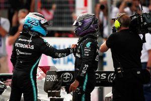 Valtteri Bottas, Mercedes, and Lewis Hamilton, Mercedes