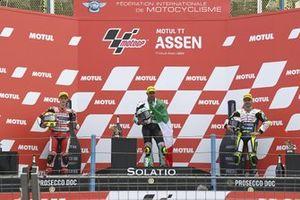 Dennis Foggia, Leopard Racing, Sergio Garcia, Aspar Team Moto3, Romano Fenati, Max Racing Team, sur le podium