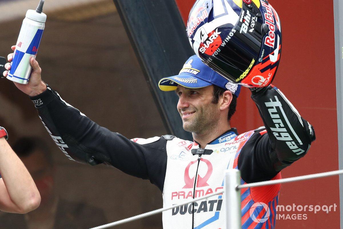 Podio: segundo lugar Johann Zarco, Pramac Racing MotoGP