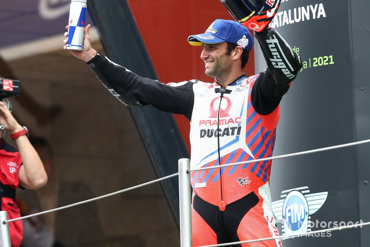 Podio: segundo lugar Johann Zarco, Pramac Racing