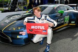 Pole award winner #23 Heart of Racing Team Aston Martin Vantage GT3, GTD: Roman De Angelis