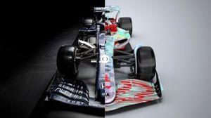 Comparison: 2021 F1 car vs. 2022 F1 car