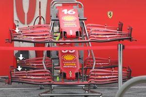 Варианты переднего антикрыла Ferrari SF21